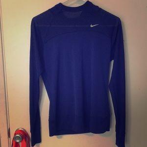 Nike Royal blue Dri Fit mesh hoodie